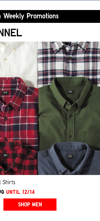 Top things off with weekly promotions -- FLANNEL