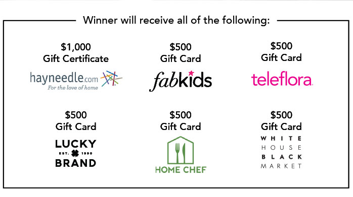Winner will receive $3,500 in gift cards