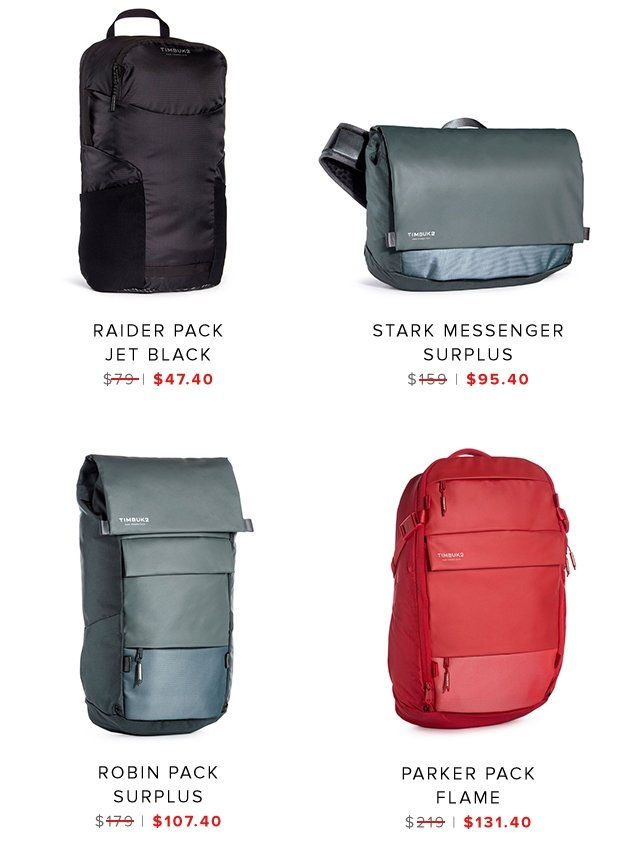 Raider Pack | Stak Messenger | Robin Pack | Parker Pack | Shop Sale
