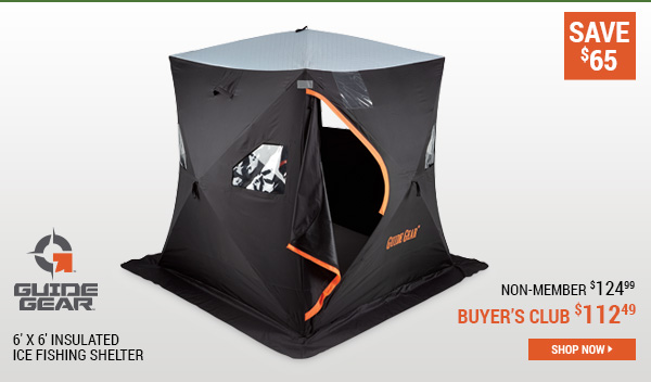 Guide Gear 6' x 6' Insulated Ice Fishing Shelter