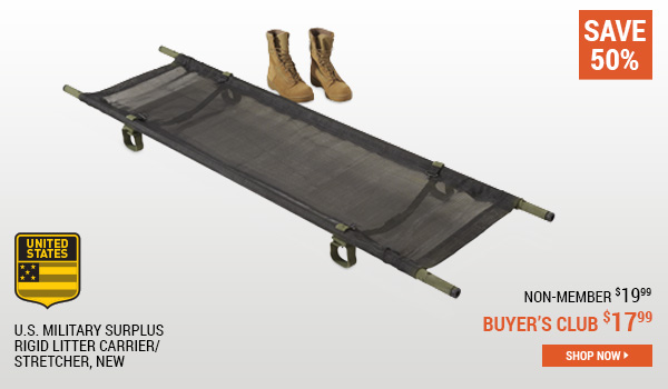 U.S. Military Surplus Rigid Litter Carrier/Stretcher, New