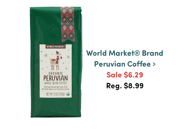 World Market Brand Peruvian Coffee