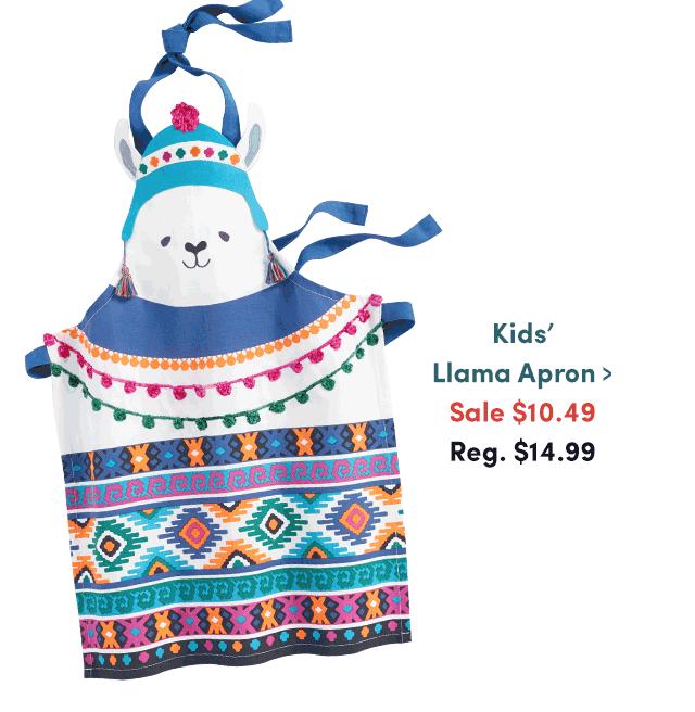 Kids' Llama Apron