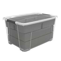 ezy storage 52l christmas decoration storage tub with wheels - Christmas Decoration Storage Containers