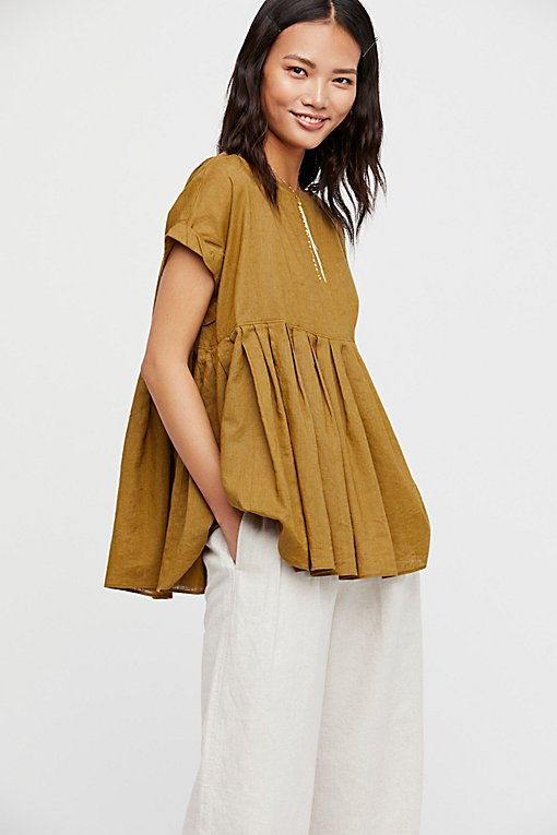 Your Girl Pleated Blouse