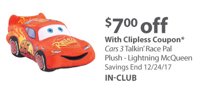 Cars 3 Talkin' Race Pal Plush