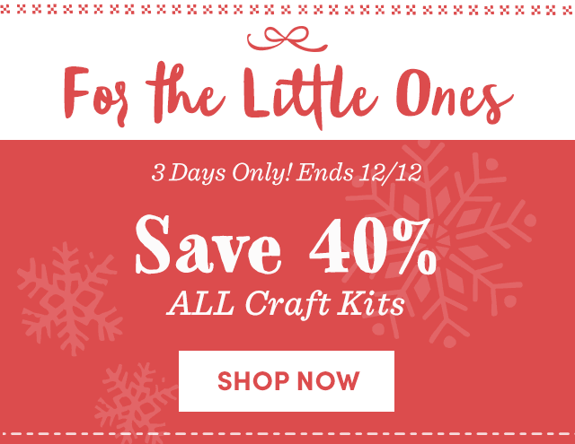 Save 40% All Craft Kits