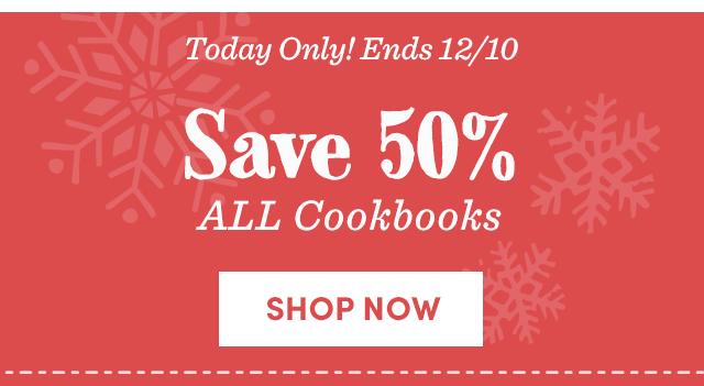 Save 50% All Cookbooks