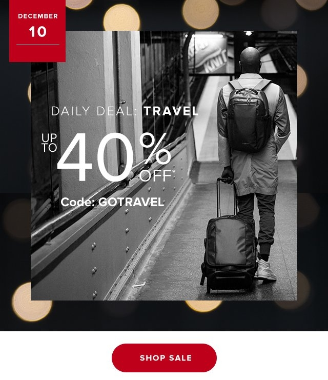 Dec 10  Daily Deal BEST SELLERS | Up to 40% Off Code GOTRAVEL