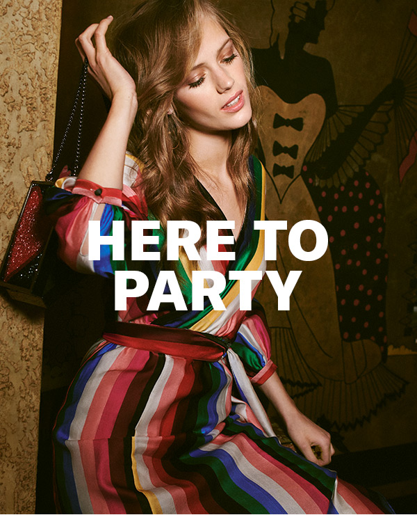 Graphic prints, bold colors, and a heavy dose of glitterthe latest from alice + olivia is ready to have some fun.