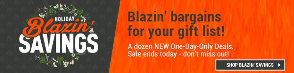 Holiday Blazin Savings. 12 Terrific New Deals. Today Only!