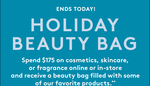 Don't miss out on a gift bag filled with must-have beauty products.