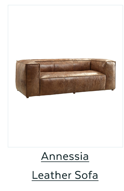Annessia Leather Sofa