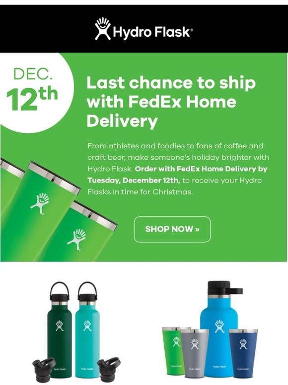 Hydro Flask: Free FedEx Home Delivery  | Milled