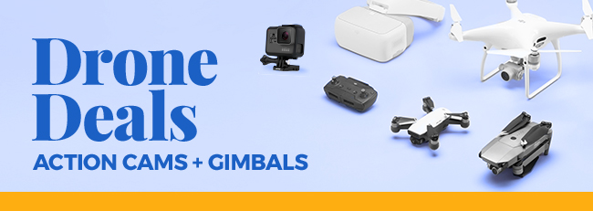 Drone Deals Action Cams + Gimbals | FREE SHIPPING on most specials below