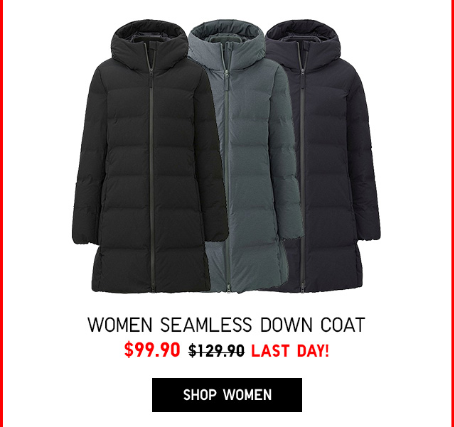 Women Seamless Down Coat $99.90 - LAST DAY! - SHOP WOMEN