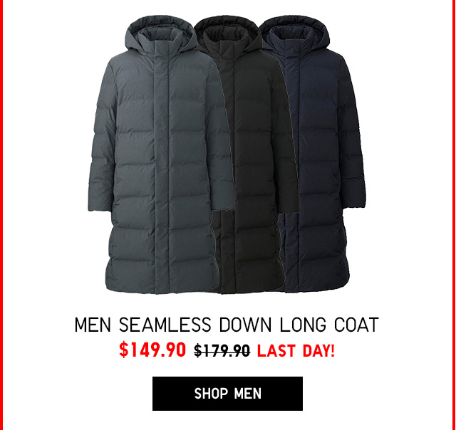 Men Seamless Down Long Coat $149.90 - LAST DAY! - SHOP MEN