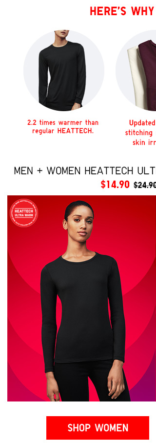 HEATTECH Ultra Warm Crewneck T-Shirt $14.90 TODAY ONLY! - SHOP WOMEN