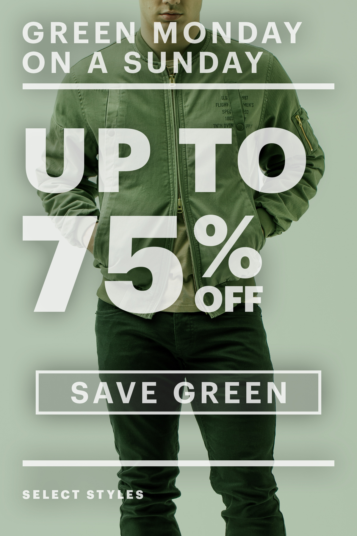 Up To 75% Off! Green Monday On A Sunday