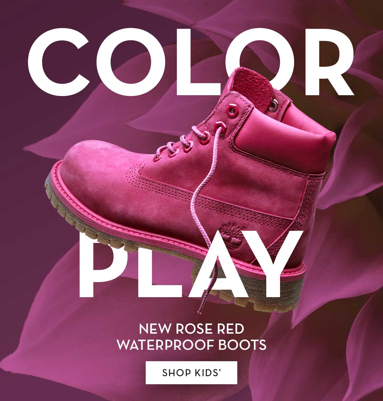 Color Play New Rose Red Waterproof Boots Shop Kids'