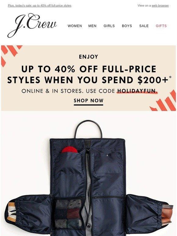 fb5e5b1110fa J.Crew: Introducing the Ludlow garment duffel bag | Milled