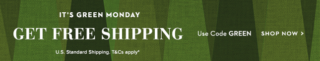 Free U.S Shipping. Use Code GREEN.