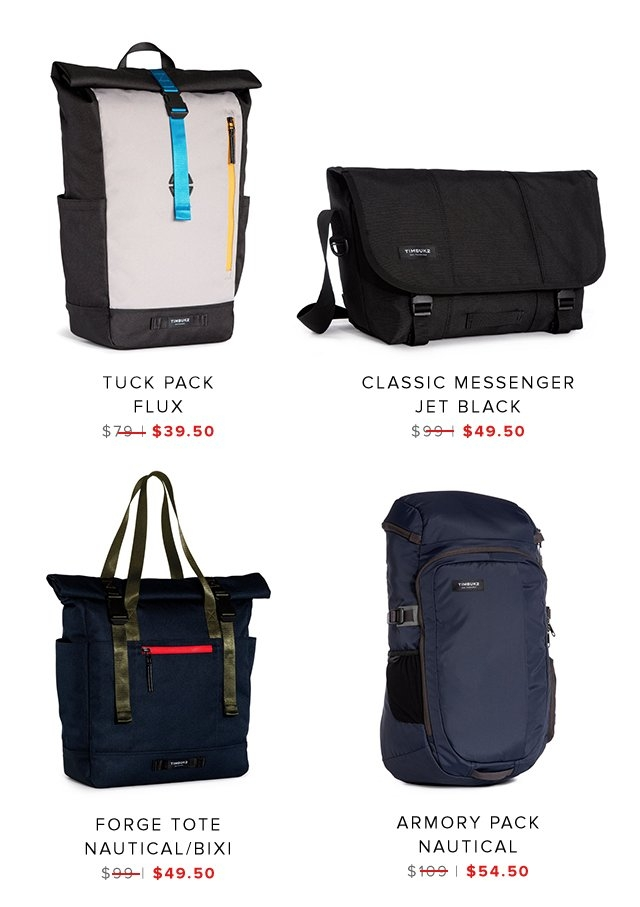 Tuck Pack | Classic Messenger | Forge Tote | Armory Pack | Shop Sale