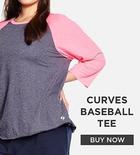CURVES BASEBALL TEE