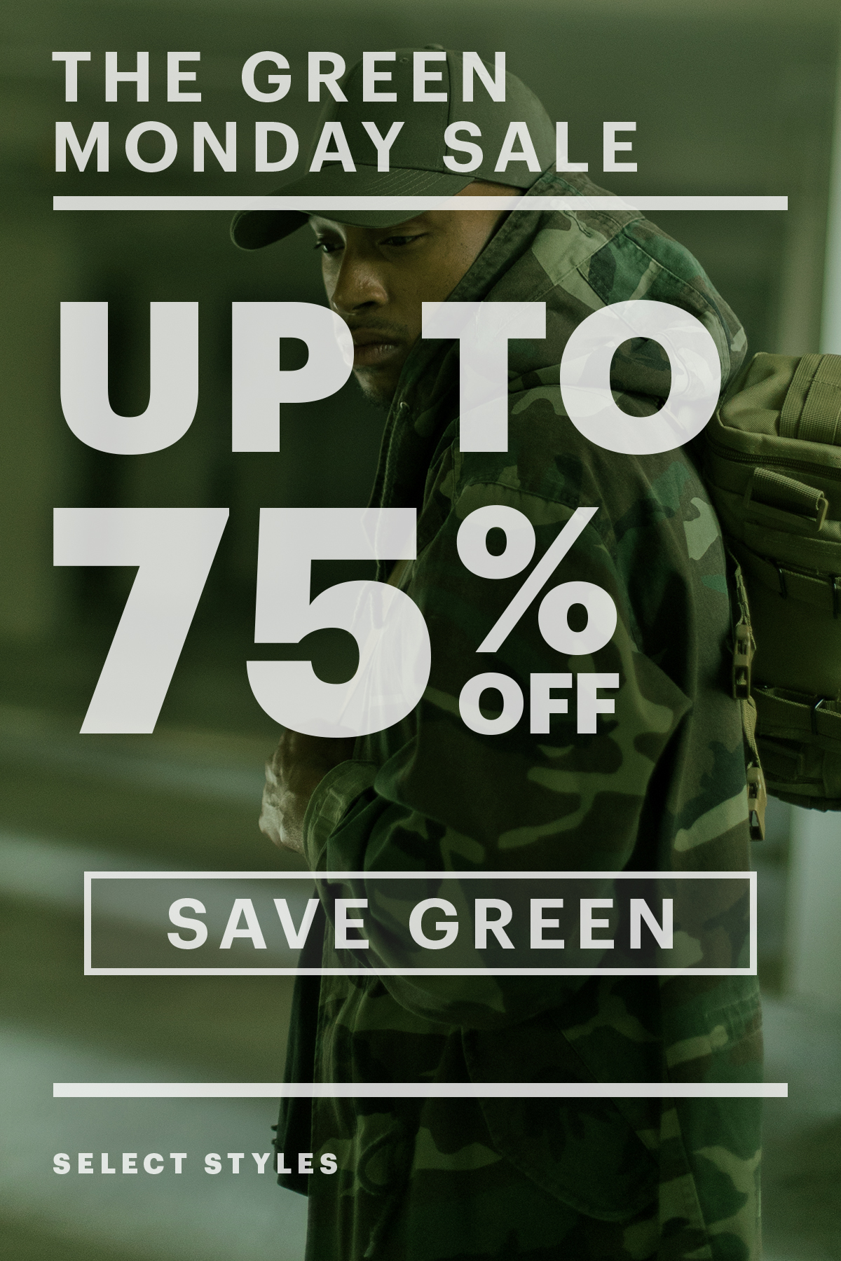 Up To 75% Off! Green Monday