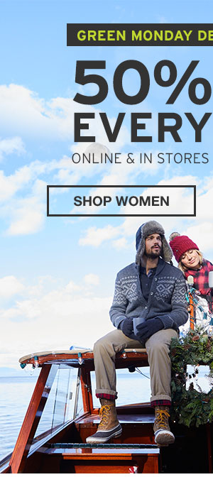 50% OFF EVERYTHING | SHOP WOMEN