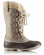 A tall snow boot with shearling.