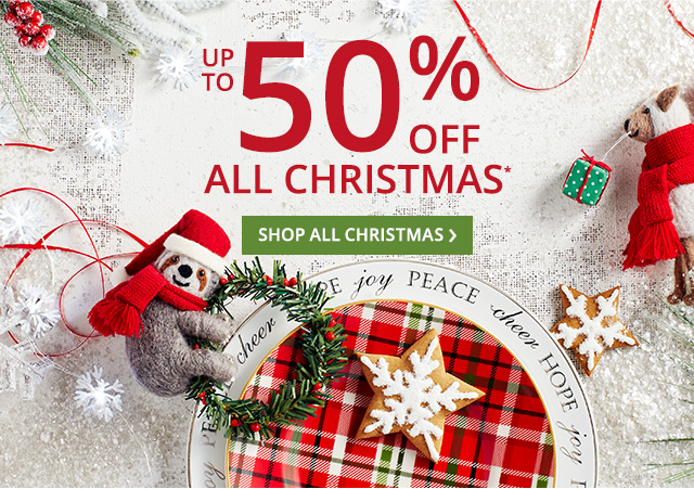 Christmas up to 50 off.