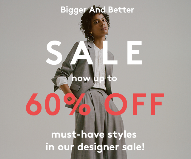 Now you have no excuse for not shopping the Designer Sale.