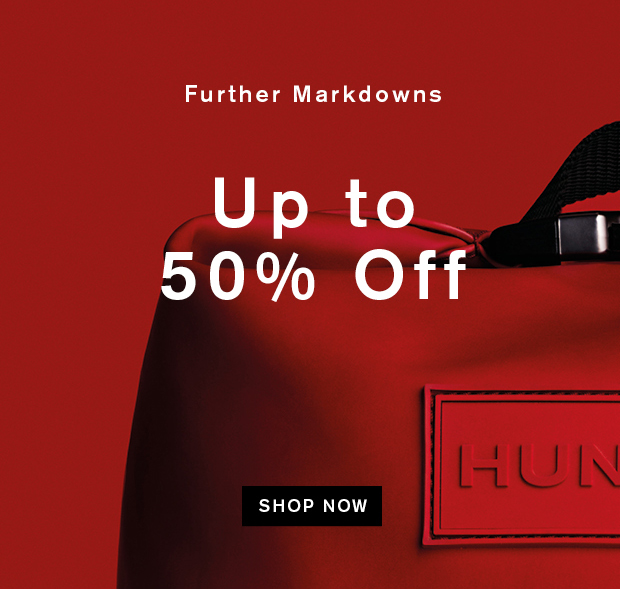 Further Markdowns: Up to 50% Off
