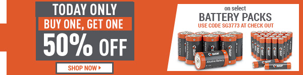 Today Only! Buy One, Get One 50% Off On Guide Gear Batteries.
