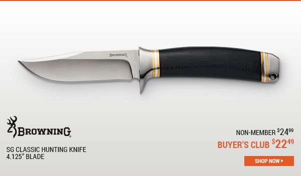 Browning SG Classic Hunting Knife, 4.125 Inch Blade
