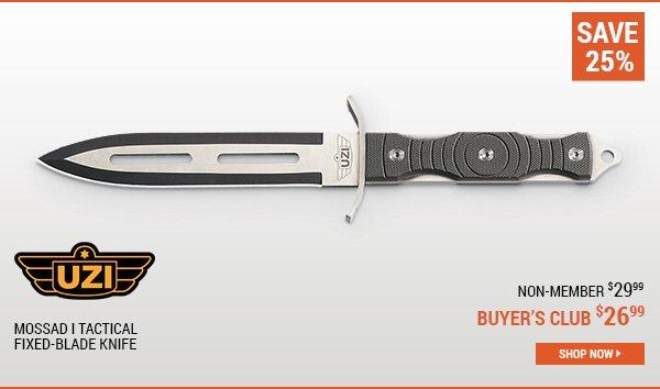 UZI Mossad I Tactical Fixed-Blade Knife