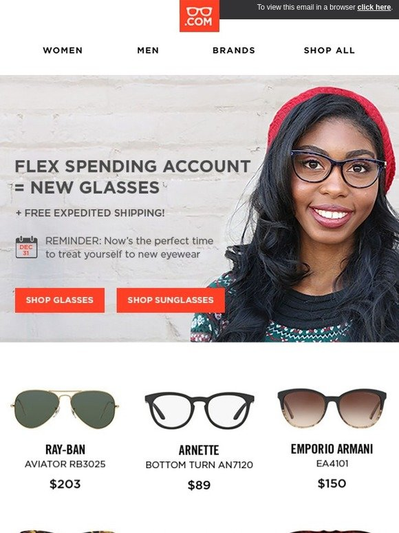 7f108d6bcf Glasses.com: 👓 Time's running out: Use your FSA today | Milled