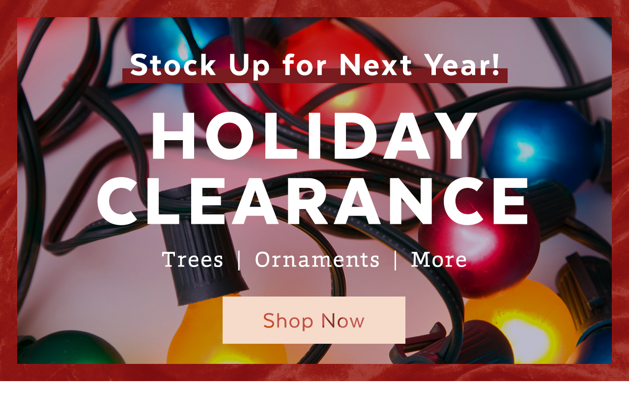 Holiday Clearance - Stock Up