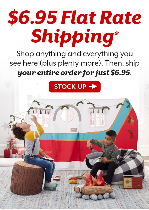 Shop $6.95 Flat Rate Shipping