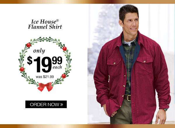 Ice House Flannel Shirt