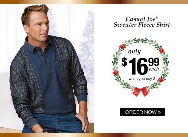 Casual Joe Sweater Fleece Shirt