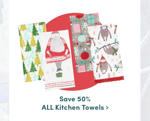 Today Only! Save 50% All Kitchen Towels