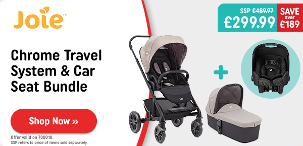 Joie Chrome Travel System & Car Seat Bundle