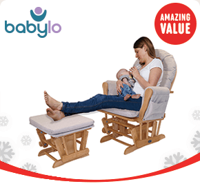 Babylo Glider Chair and Foot Stool Honey Dew