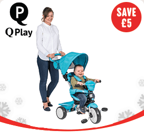 Q Play Comfort 4-in-1 Trike Blue/ Red