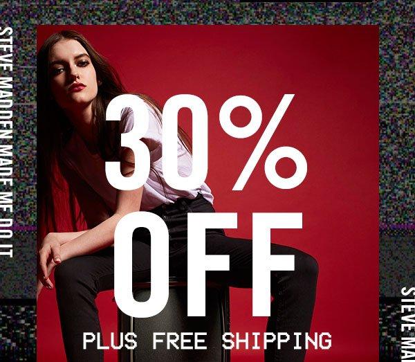 Enjoy 30% OFF plus free shipping!