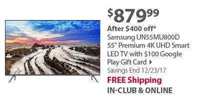 Samsung UN55MU800D 55'