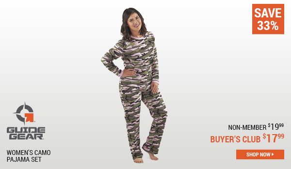 Guide Gear Women's Camo Pajama Set