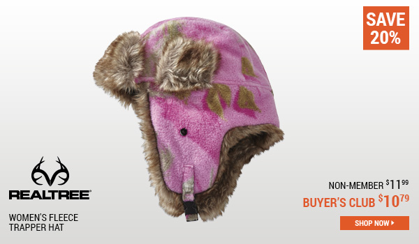 Realtree Women's Fleece Trapper Hat